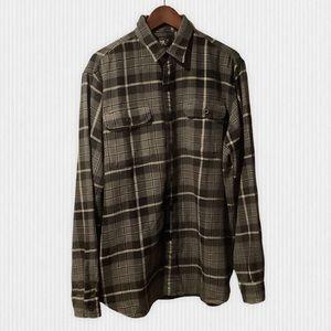 New RRL Grey Plaid Cotton Flannel Shirt L